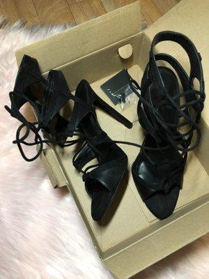 Zara Absatz Sandale mit Fersenriemen schwarz Größe 36