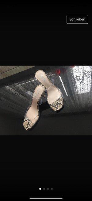 Zara Tacones de plataforma crema
