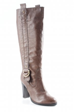 Zara Absatz Stiefel braun Metallelemente
