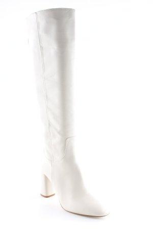 Zara Botas con tacón beige claro elegante