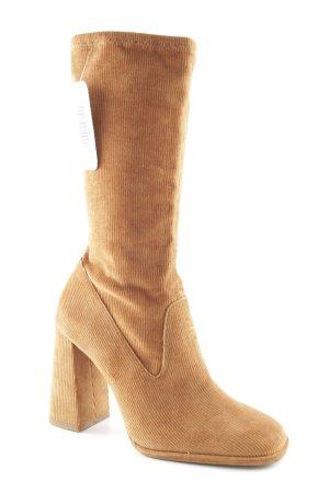 Zara Absatz Stiefel hellbraun klassischer Stil