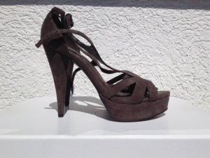 Zara Platform High-Heeled Sandal grey brown no material specification existing