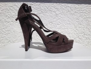 Zara Platform High-Heeled Sandal grey brown no material specification existing
