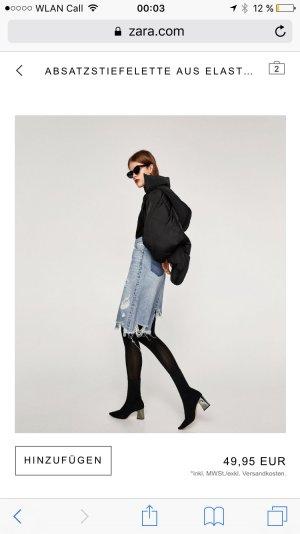 Zara Bottines noir-argenté