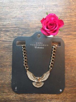 ZARA Adler Kette Statementkette Halsband Halskette gold kupfer