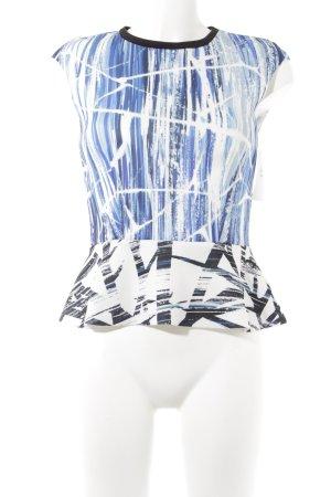 Zara ärmellose Bluse abstraktes Muster Casual-Look