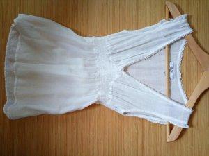 Zara Mouwloze blouse wit