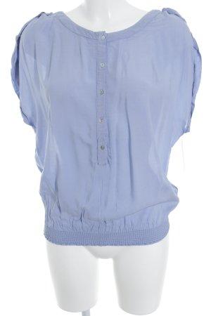 Zara ärmellose Bluse himmelblau Casual-Look