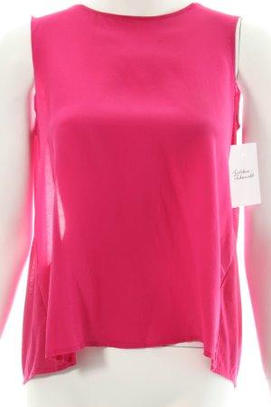 Zara ärmellose Bluse magenta klassischer Stil