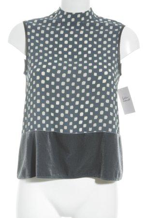 Zara ärmellose Bluse Punktemuster Casual-Look