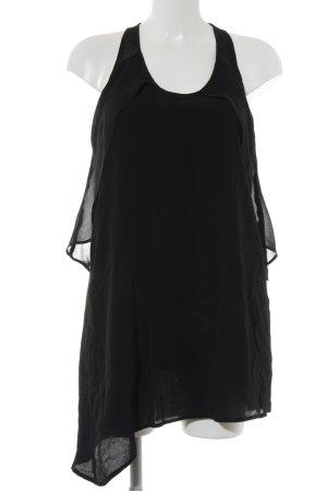 Zara Blusa senza maniche nero stile casual