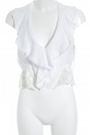 Zara ärmellose Bluse weiß Street-Fashion-Look