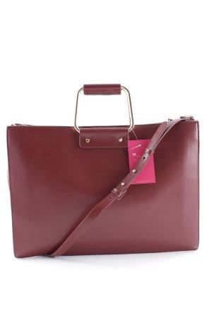 Zara Aktentasche karminrot Business-Look