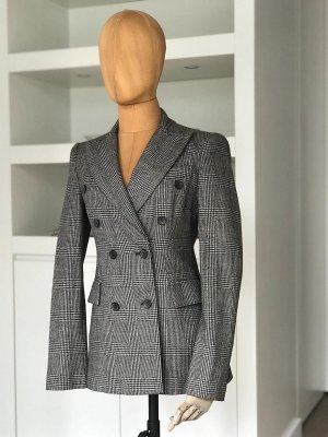 Zara Woman Wool Blazer black-natural white