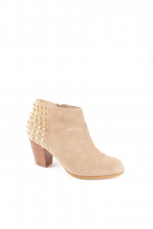Zara Ankle Boots beige Street-Fashion-Look