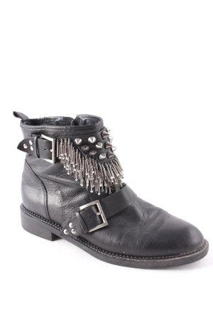 Zara Ankle Boots schwarz Punk-Look