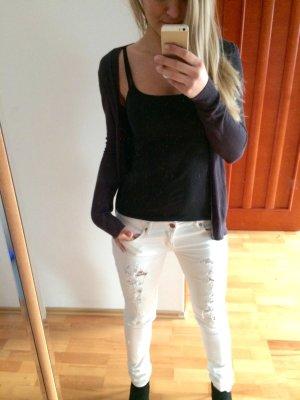 Zara Veste en tricot gris anthracite-gris ardoise