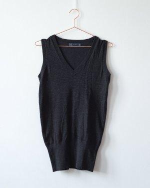 Zara / Anthrazithfarbene V-Neck Weste