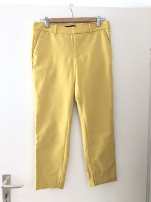 Zara Pantalone da abito giallo pallido