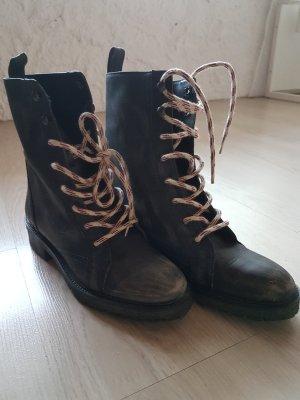 Zara Army Boots - Vintage Optik