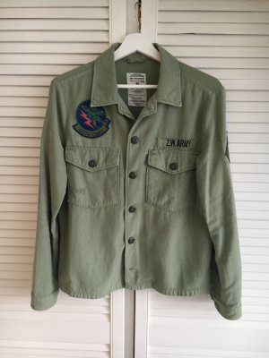 Zara Army Jacket Blogger