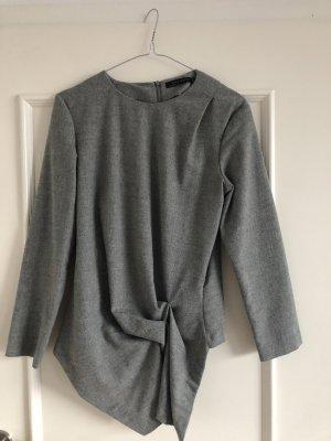 Zara Blusa de manga larga gris