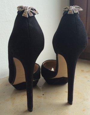 Zara Asymmetrical High Heels with Crystal Bow 37 Pumps