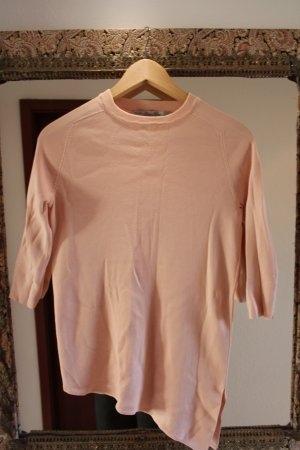 Zara Asymmetrisches Shirt in nude