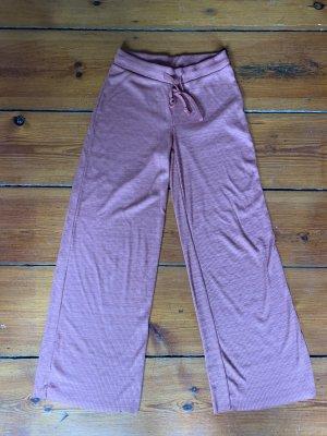 Zara ausgestellte Hose weite Hose S Ripphose gerippt in Beige Brauntönen Missoni Style