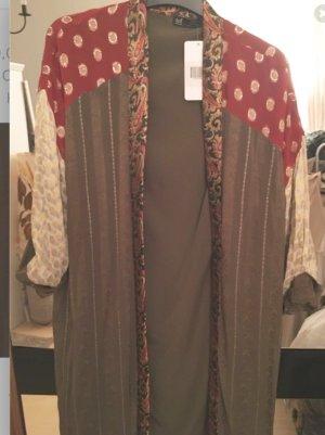 Zara Veste longue multicolore acrylique