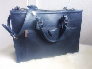 ZARA Bag Tasche Schultertasche Uni Arbeit Schule navy marineblau dunkelblau gold