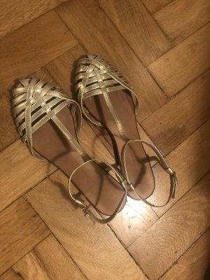 Zara Roman Sandals gold orange