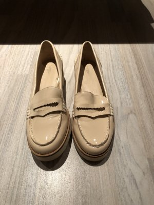 Zara Patent Leather Ballerinas nude