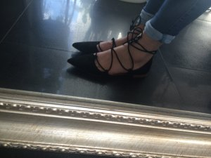 Zara Ballerina Schnürung Blogger Trend