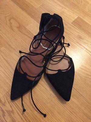 Zara Ballerina spitz zum Schnüren