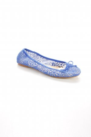 Zara Ballerinas blau Transparenz-Optik