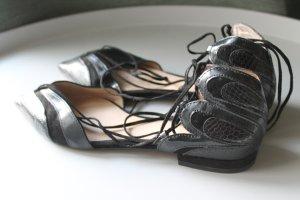 Zara Mary Jane Ballerinas black