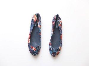 Zara Ballerinas Gr. 40 Stoff Dip dye ombre wunderschön blumen blau