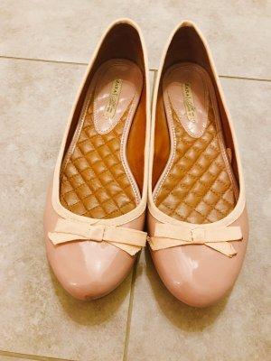 Zara Ballerina di pelle verniciata rosa pallido