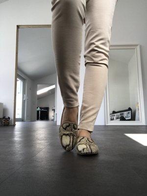 Zara Ballerinas mit Schlangen Print