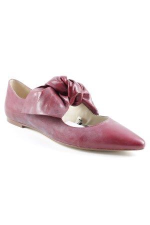 Zara Ballerinas mit Spitze bordeauxrot Casual-Look
