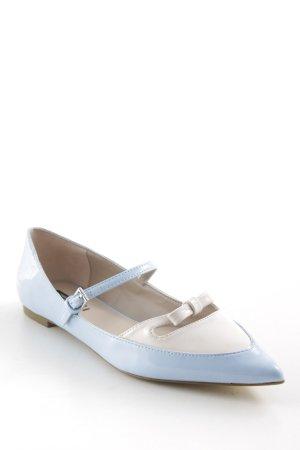 Zara Ballerinas mit Spitze hellblau-altrosa Elegant