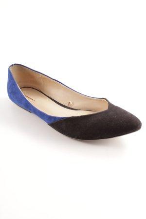 Zara Ballerina's met kant zwart-blauw zakelijke stijl