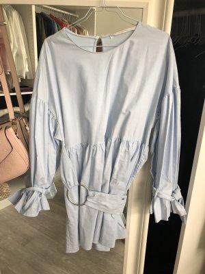 Zara vestido de globo azul celeste
