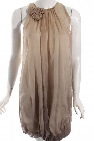 Zara Robe ballon beige-marron clair gradient de couleur style festif