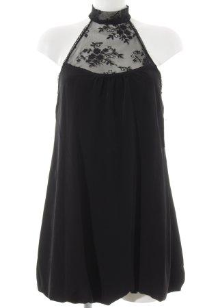Zara vestido de globo negro elegante