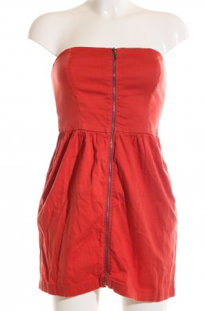 Zara Bandeau Dress red casual look