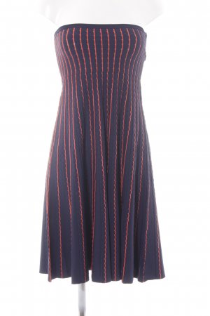 Zara Bandeaujurk donkerblauw-oranje gestreept patroon elegant