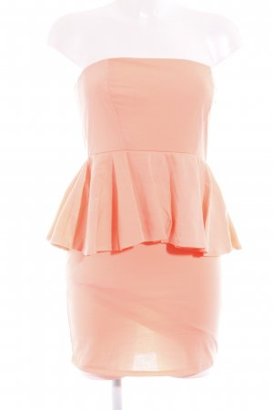 Zara Bandeaukleid neonpink extravaganter Stil