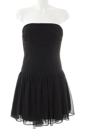 Zara Vestido bandeau negro elegante